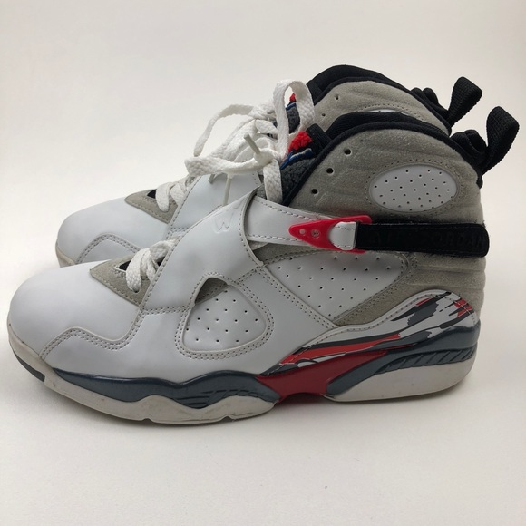 buy popular 83a96 6fb9b Jordan Other - 2003 NIKE AIR JORDAN 8 VIII RETRO WHITE BLACK RED